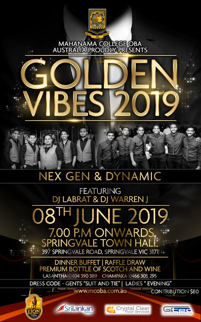 Golden Vibes 2019 Flyer